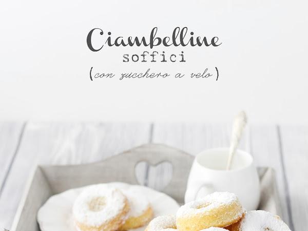 Ciambelline soffici con zucchero a velo