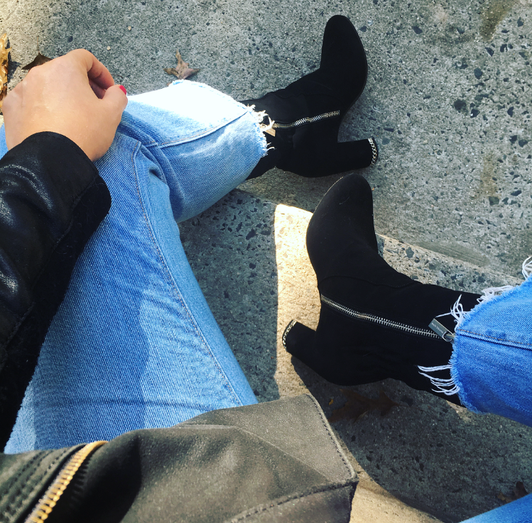 Michael Kors Dolores Black Suede Booties