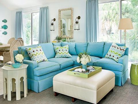The Same Pillows on Sofa