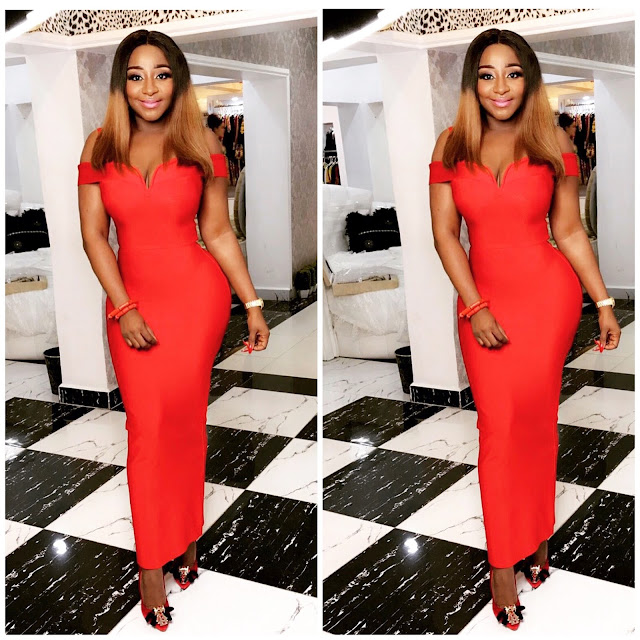 Ini edo is all shades of stunning in this red number