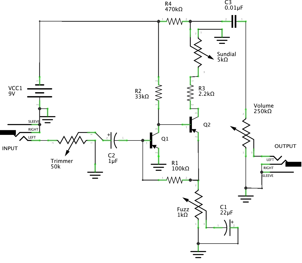 Germanium Fuzz Face Schematic