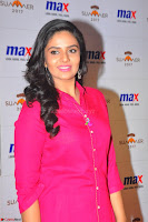 Sree Mukhi in Pink Kurti looks beautiful at Meet and Greet Session at Max Store (30).JPG