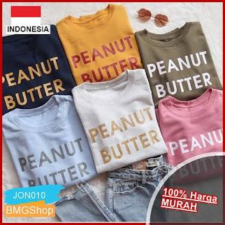 JON10 Tshirt Wanita Kaos Wanita Peanut Butter BMGShop