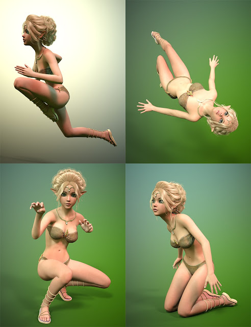 Rough and Tumble Poses for Mika 7