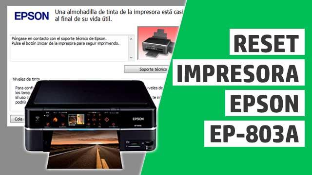 resetear almohadillas impresora Epson EP803A