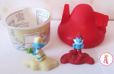 Макдональдс, набор Хеппи Мил с игрушками Смурфики из одноименного мультика