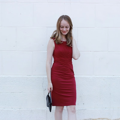 Shake the Tree Boston Red Velvet Fall Dress