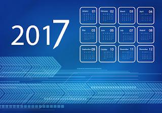 2017カレンダー無料テンプレート198