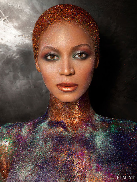 Beyonce Flaunt Magazine 3 Naked and covered in glitter; Beyonce transforms for Flaunt Magazine