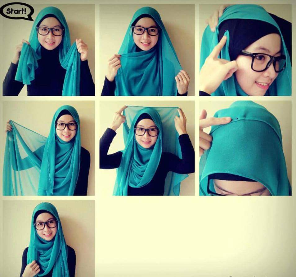 House Of Tutorial Gaya Hijab Pashmina Simple 1