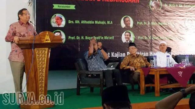 Blak-blakan, Di Hadapan Para Kyai Prof. Mahfud MD Bilang Akan Ikut Mendukung Khilafah Islam Kalau.....