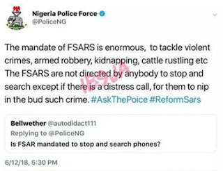 FSARS are not directed by anybody to stop and search – Police