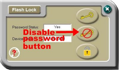 TDK Flash Lock disable password