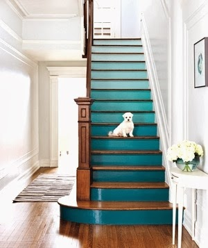 staircase idea with paint