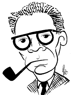 Arthur Miller caricature by Ian Davy Brown