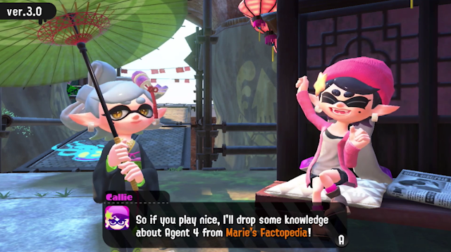 Splatoon 2 version 3.0 Callie Marie Factopedia pink beanie jacket