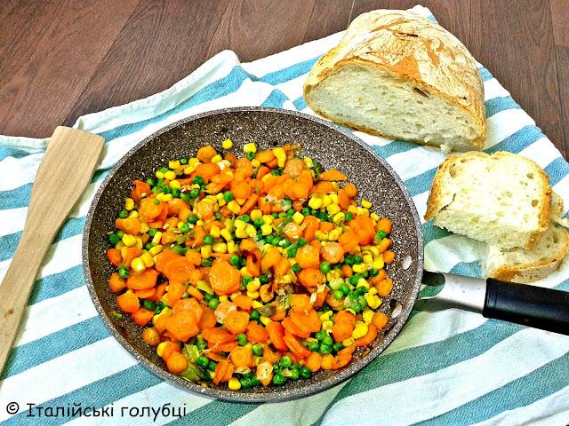 рецепти для вегетаріанців овочевий гарнір
