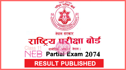 Result Published - Grade 11 Partial Exam 2074 | 35 58