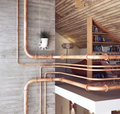 sanitasi dan desain pipa rumah minimalis 2 lantai