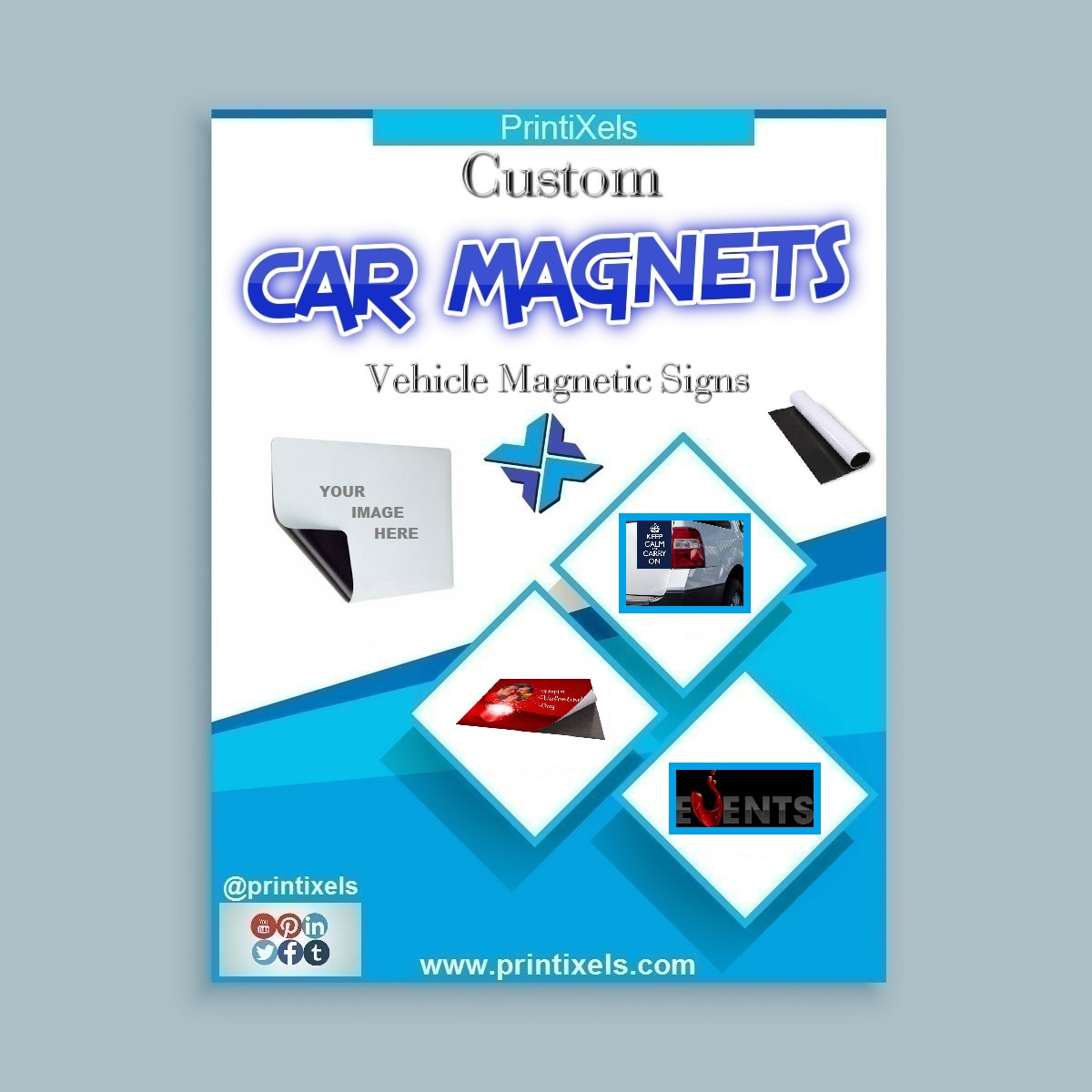 Custom Car Magnets, Vehicle Magnetic Signs