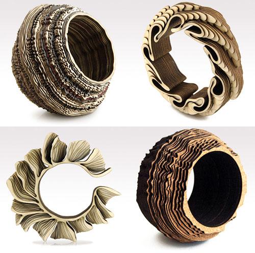 Hermosos anillos con madera y corcho