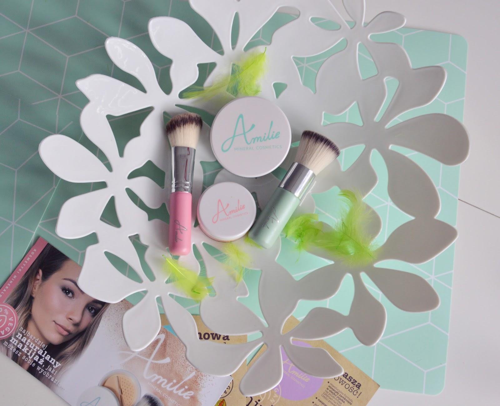 Makijaż z kosmetykami mineralnymi od Amilie Mineral Cosmetics.