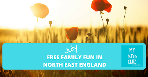 Free family fun in North East England in July 2018