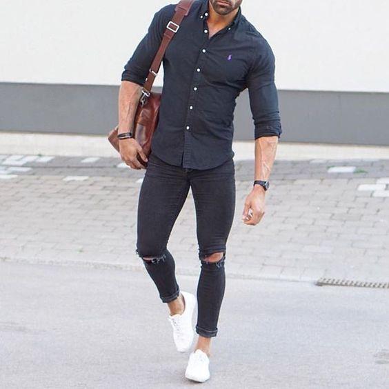 a48fb5a0b6b8a Macho Moda - Blog de Moda Masculina  Camisa Social para fora da ...