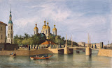 View of the Cathedral of St Nicholas by Ferdinand Perrot - Architecture, Landscape Art Prints from Hermitage Museum