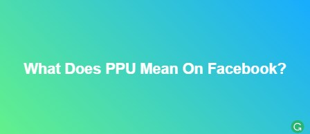 What Does PPU Mean On Facebook