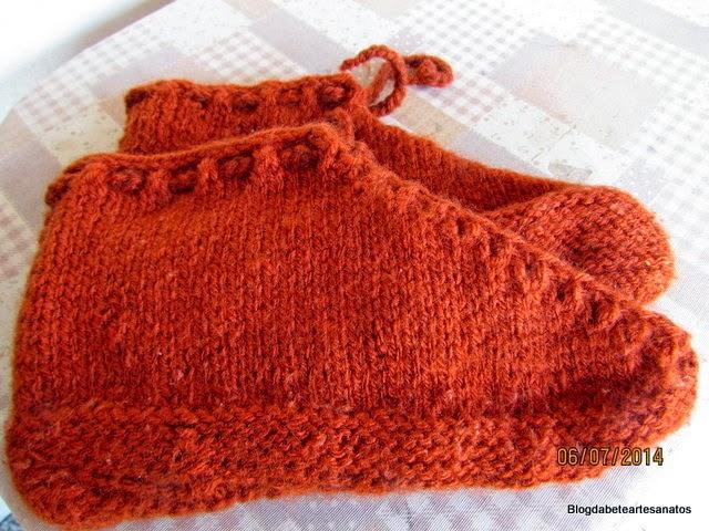 Meias em tricô e Lã,