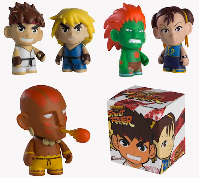 Street Fighter Mini Figure Series by Kidrobot - Ryu, Ken, Blanka, Chun Li, & Dhalsim Vinyl Figures