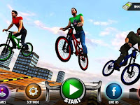 Download Rooftop Bicycle Stunt Rider 3D v1.2 Mod Apk (OFFLINE HD) Terbaru