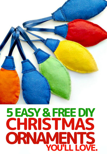 Easy Christmas tree ornaments DIY