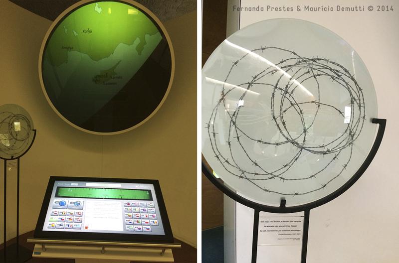 dentro do museu de schengen