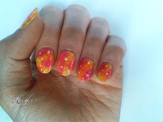 Summer galaxy nail art