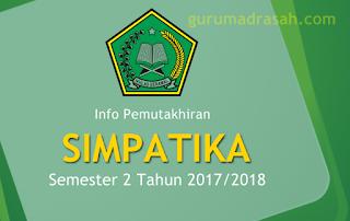 pemutakhiran simpatika semester 2 2017/2018