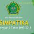 Info Pemutakhiran Simpatika Untuk Semester 2 Tahun 2017/2018