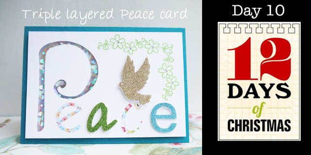 Triple layered Peace card by Hilary Milne for Silhouette Design UK