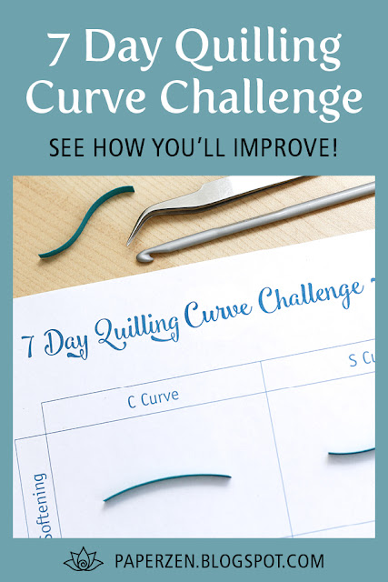 7 Day Quilling Curve Challenge