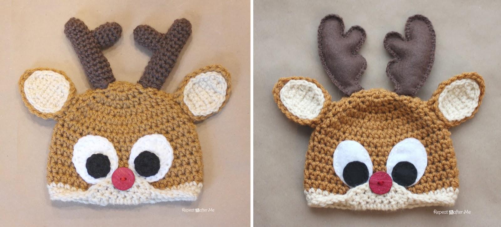 Crochet Reindeer Antlers Pattern - Repeat Crafter Me ffbc7d886cb