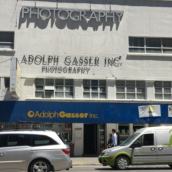 exterior of Adolph Gasser Photography store in San Francisco, California
