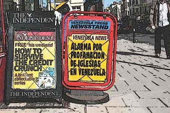 Newsstand cómic - profanación iglesias en Venezuela