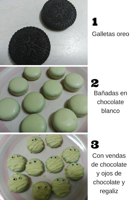 Baño Blanco Para Galletas: Cayena: MOMIAS DE OREO Y CHOCOLATE BLANCO RECETA PARA HALLOWEEN