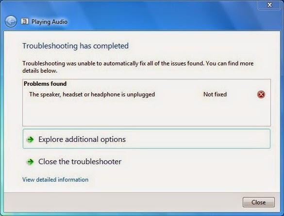 Cara Mengatasi Sound Tidak Ditemukan Pada Windows 7