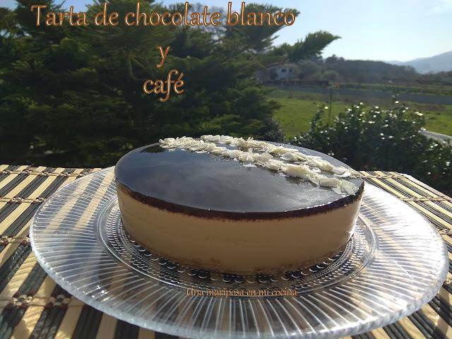 Tarta De Chocolate Blanco Y Cafe