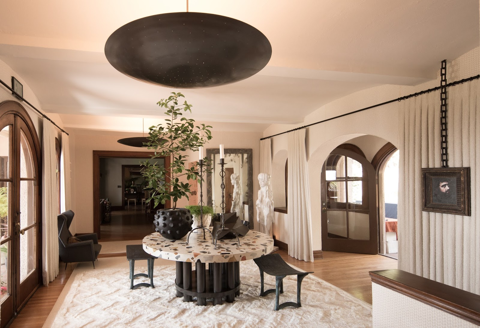 Because it is an historic site the original kitchen in the mansion cannot be removed and renovated but a design team from williams sonoma home gave the
