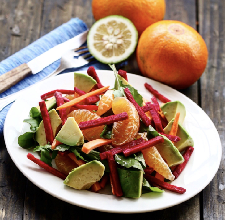 ORANGE BEET AND AVOCADO SALAD RECIPE