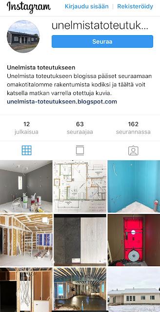 instagram, rakennusblogi, omakotitalonrakentaminen, Jukkatalo, Kokemuksia, sosiaalinen media, Unelmistatoteutukseen, seuraajat, seurannassa,