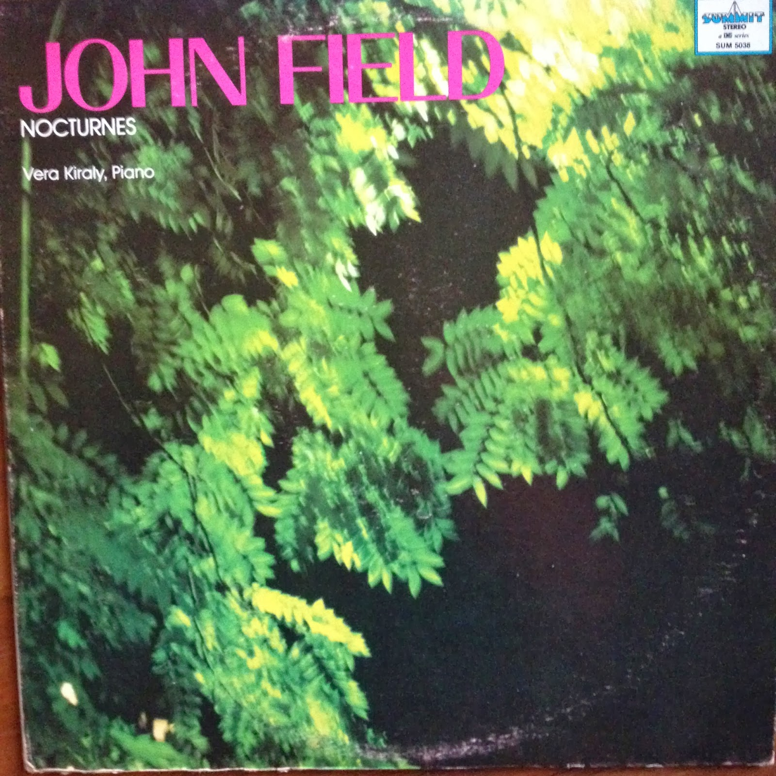 LP cover of John Field Nocturnes